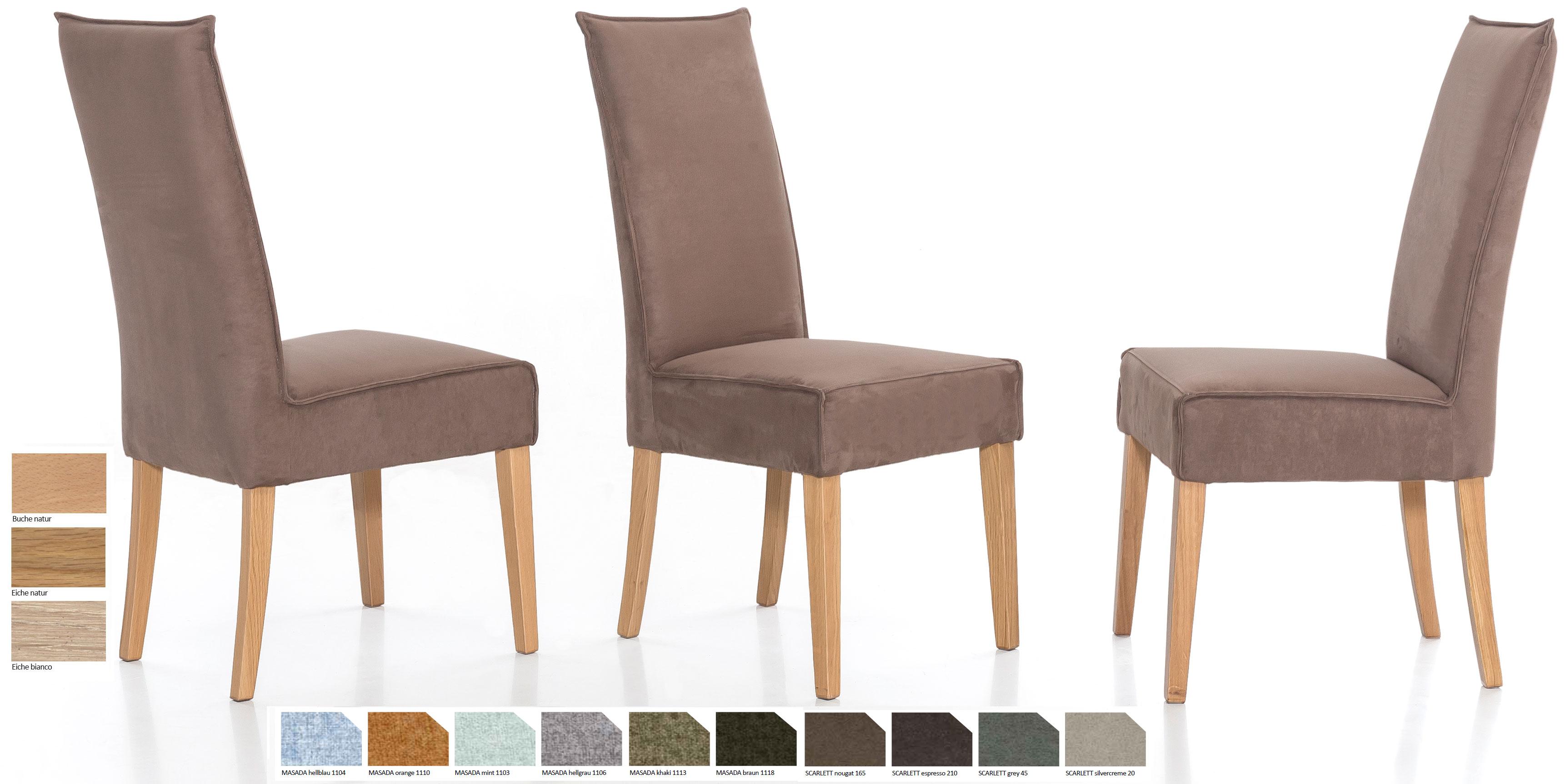 Standard Furniture Kira Polsterstuhl hellbraun