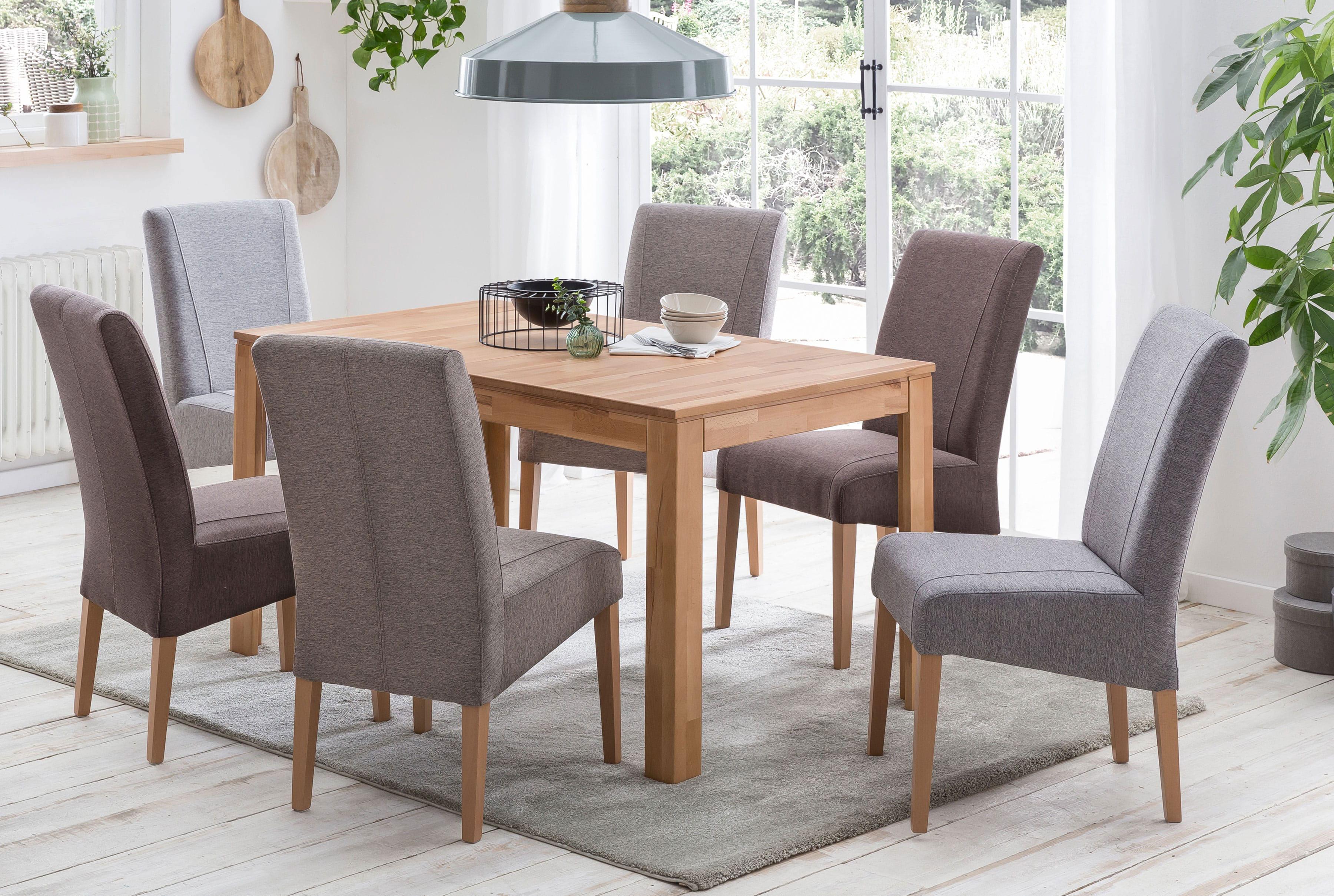 Standard Furniture Tischgruppe mit Polsterstühlen Leon und Tisch Pedro