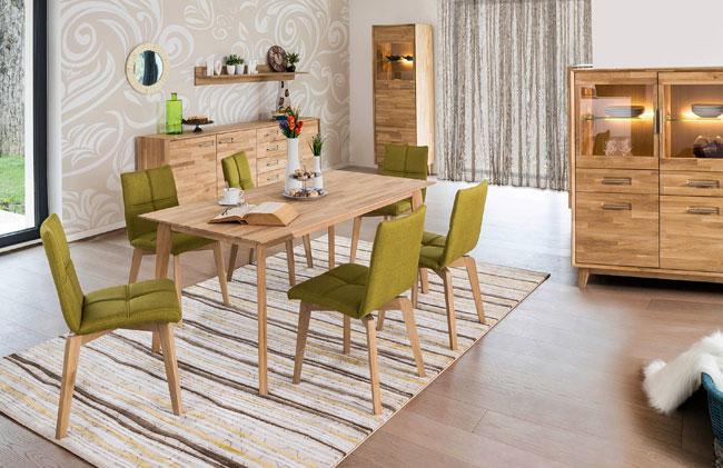 Essgruppe mit Tisch Liam und Stühlen Manon