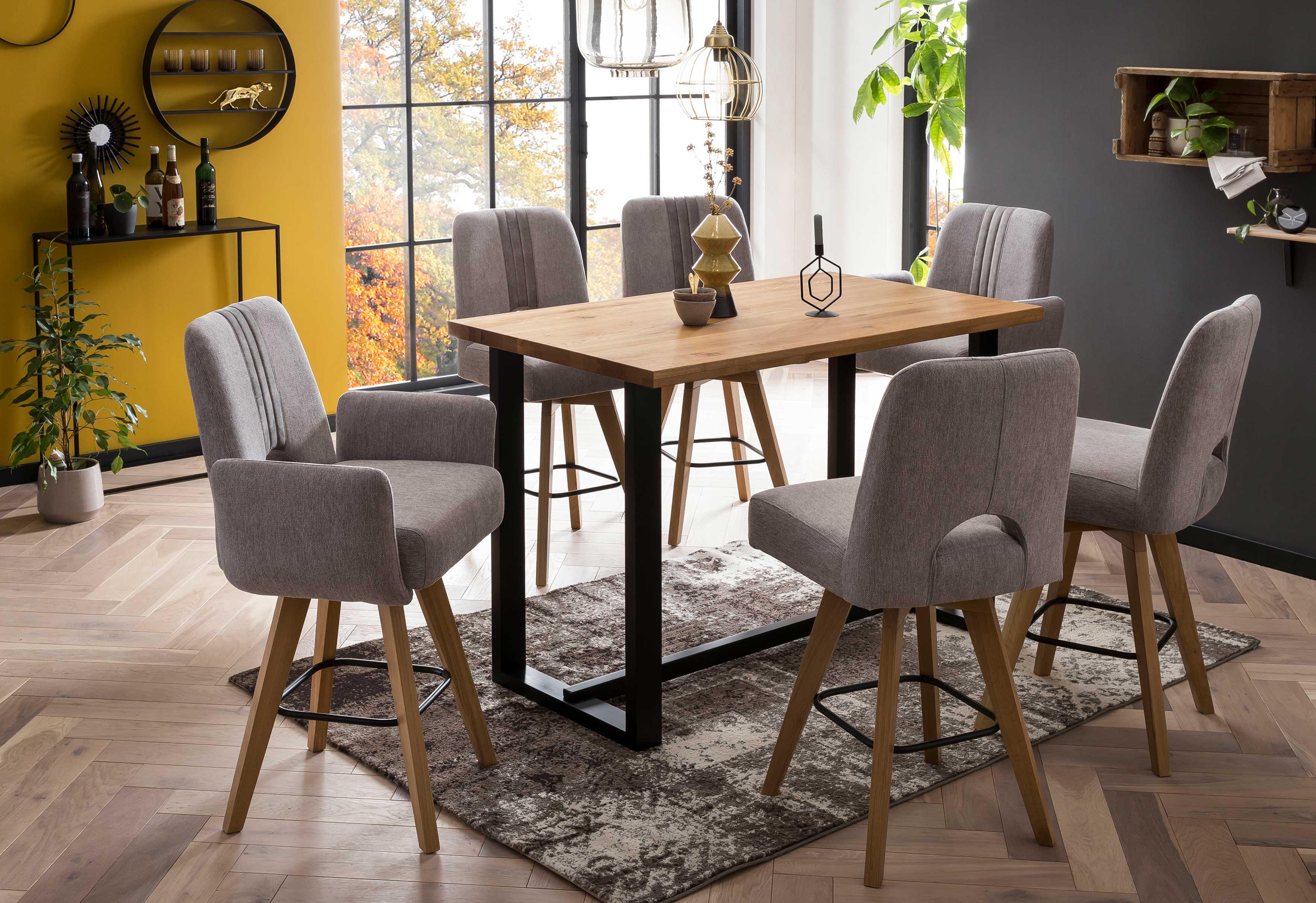 Standard Furniture Barmöbel mit Tresentisch und Barstühlen Nantes eiche