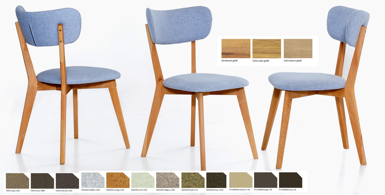 Standard Furniture Nora Polsterstuhl kernbuche
