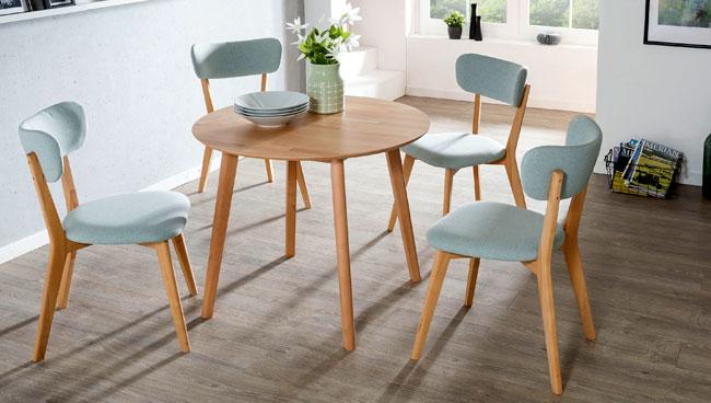 Standard Furniture Essgruppe mit Stühlen Nora und Tisch Thomas