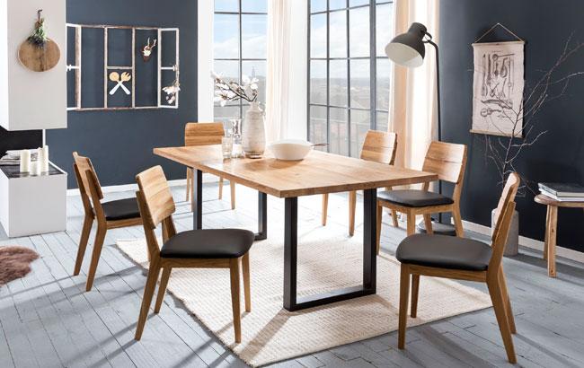 Standard Furniture Essgruppe mit Stühlen Norman und Tisch Quebec