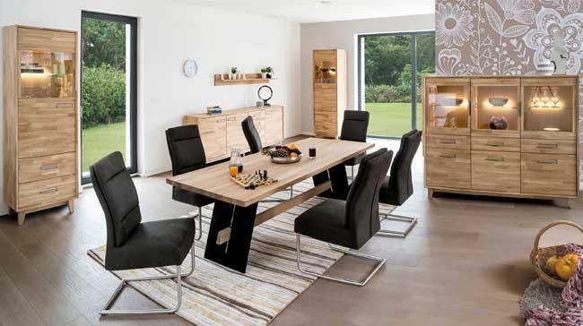 Standard Furniture Numero Esszimmer massiv eiche bianco
