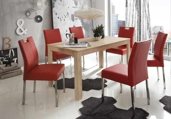 Essgruppe mit Tisch Pedro und Stühlen Laura eiche sonoma
