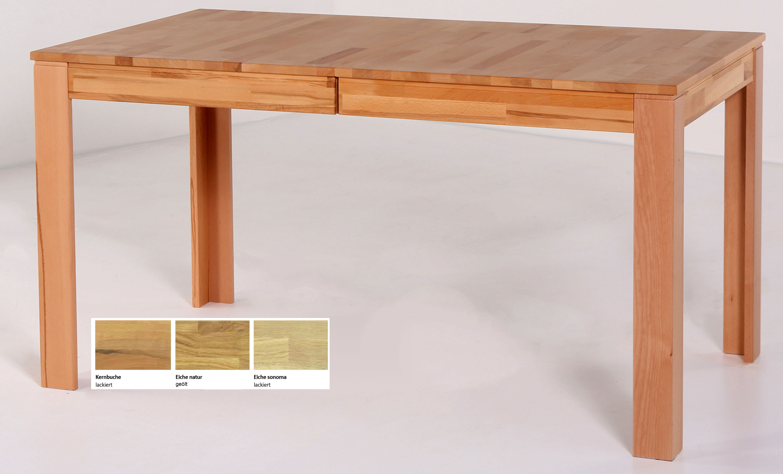 Standard Furniture Pedro Massivholztisch kernbuche ausziehbar
