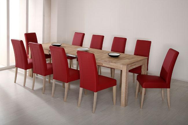 Tischgruppe mit Tisch Rafael und Stühlen Samiro eiche sonoma