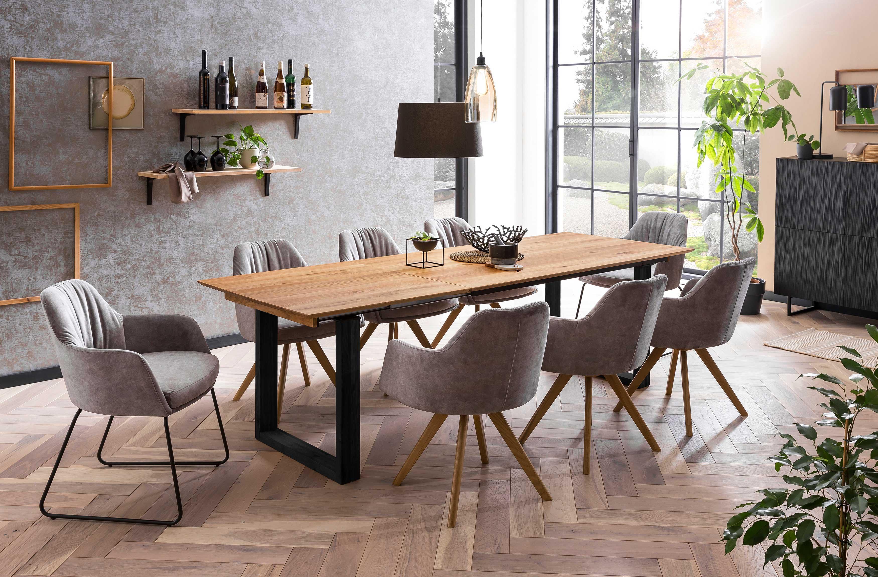 Standard Furniture moderne Essgruppe mit Tisch Rennes und Schalenstühlen Marseille