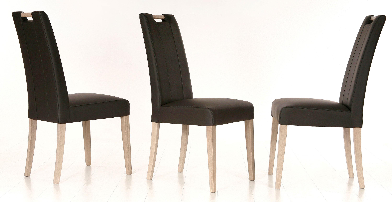 Standard Furniture Samiro Esszimmerstühle mit Griff eiche bianco