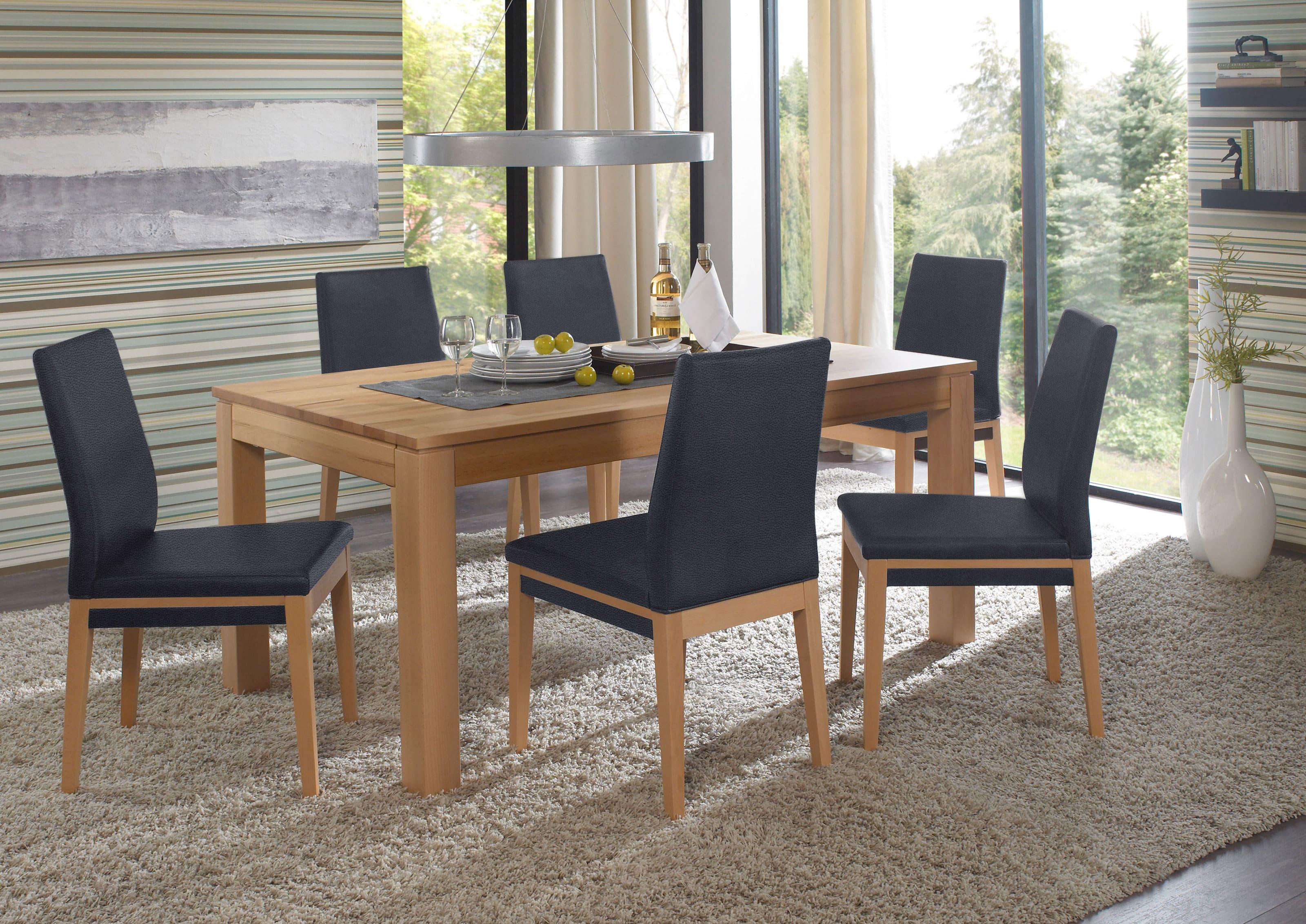 Standard Furniture Polsterstühle Santos mit Tisch Toby