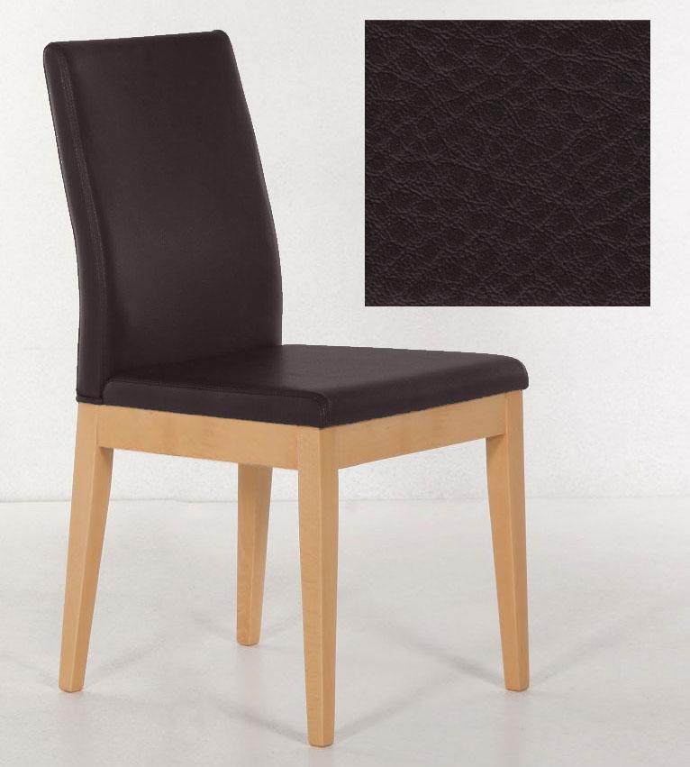 Standard Furniture Santos Polsterstühle buche mit Kunstleder dunkelbraun