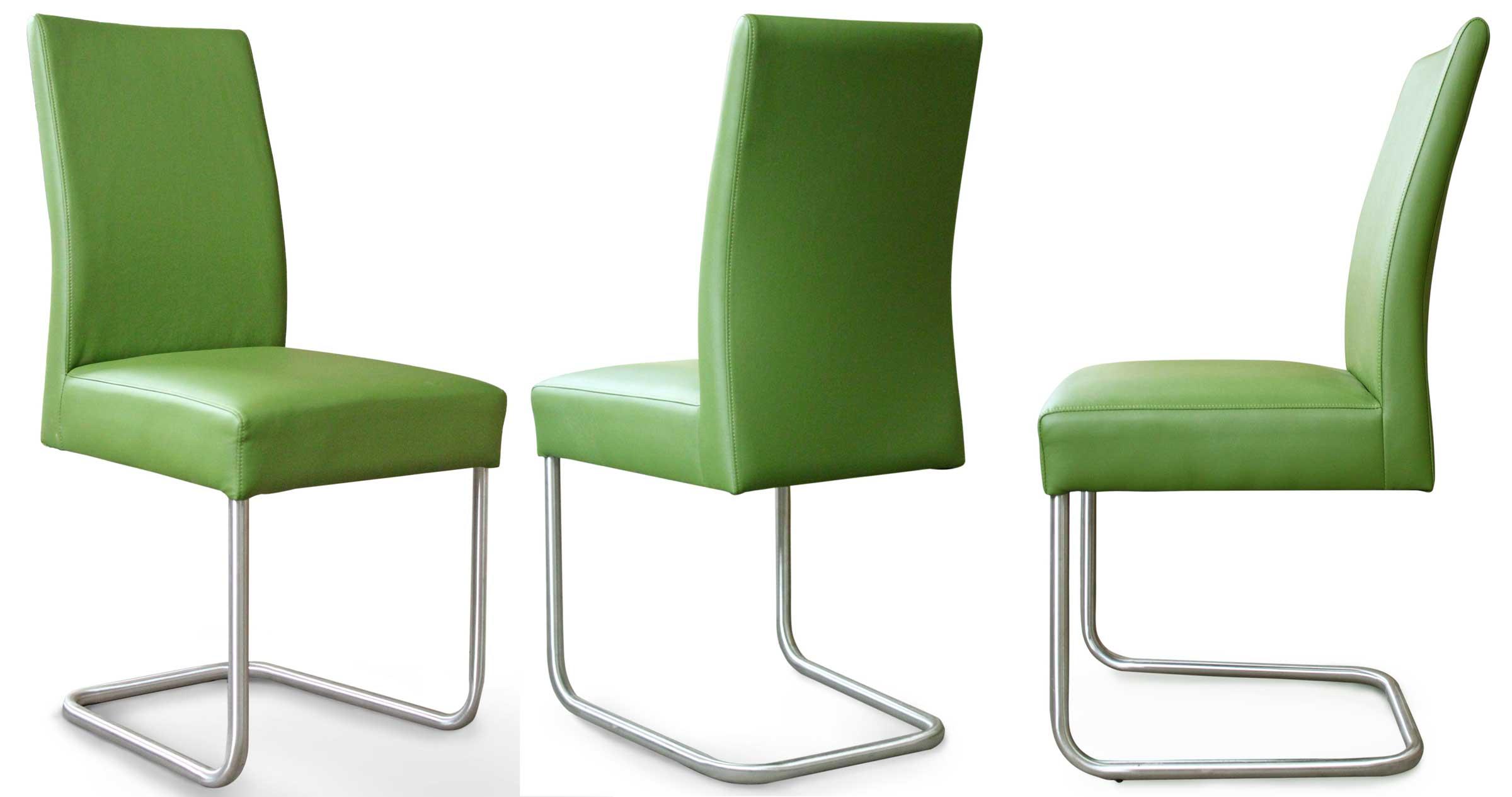 Schwingstuhl Kunstleder grün