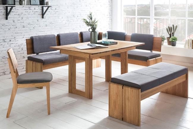 Standard Furniture Stockholm Eckbank mit Komforto Tisch massiv eiche