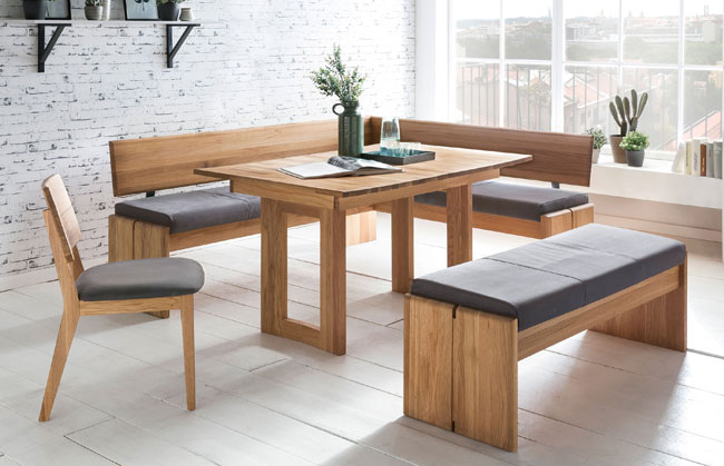 Standard Furniture Stockholm Eckbankgruppe massiv eiche