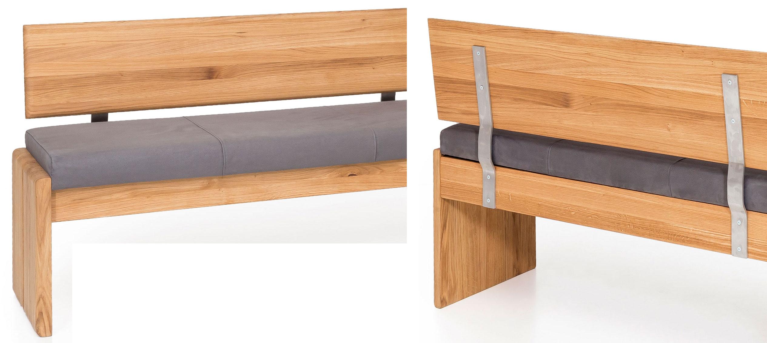 Standard Furniture Stockholm Truhenbank massiv eiche mit Lehne