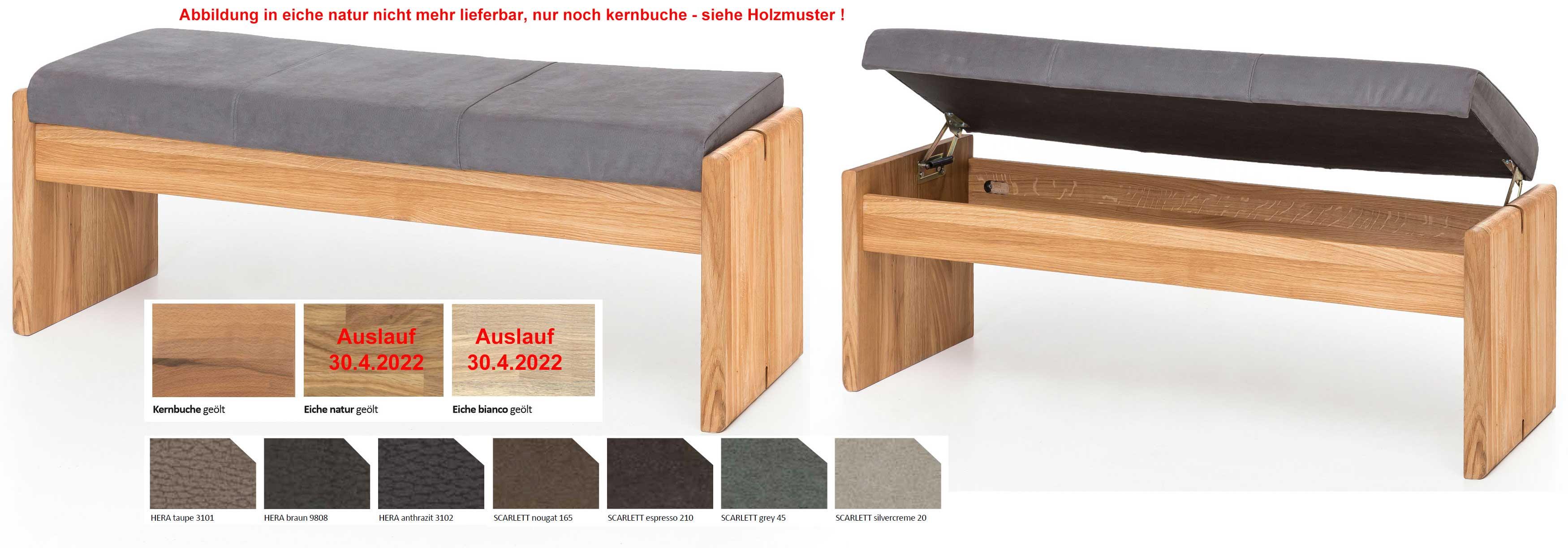 Standard Furniture Stockholm Truhenbank massiv eiche mit Polster