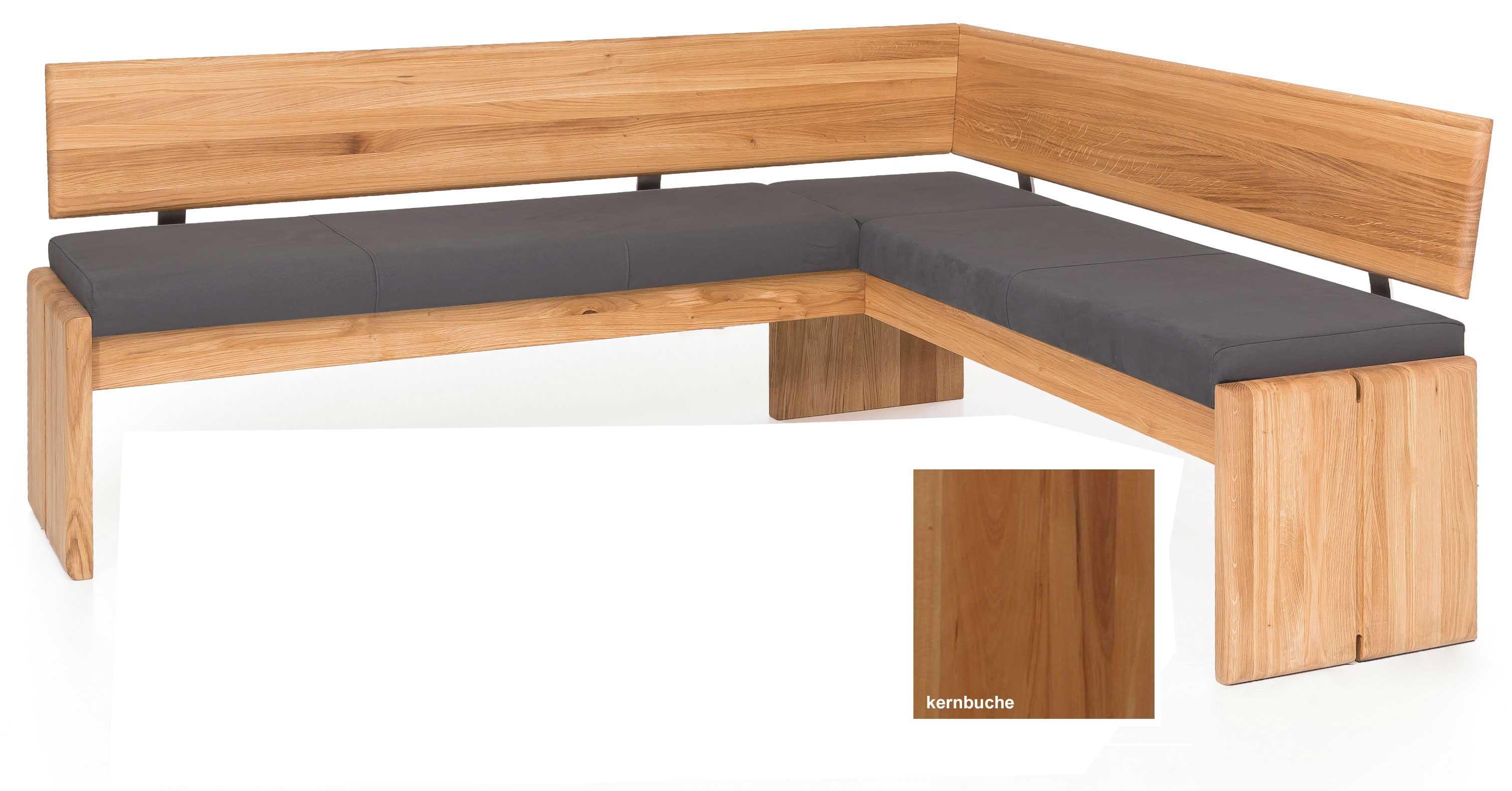 Standard Furniture Stockholm Eckbank klappbar massiv kernbuche mit Polster