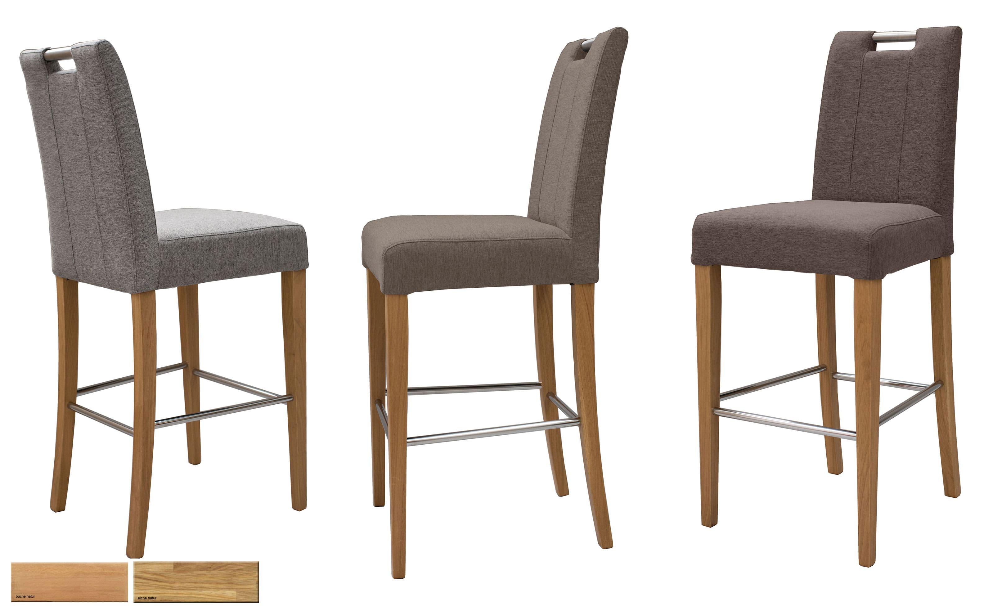 Standard Furniture Thao Tresenstuhl mit Griff eiche mit Bezug Webstoff