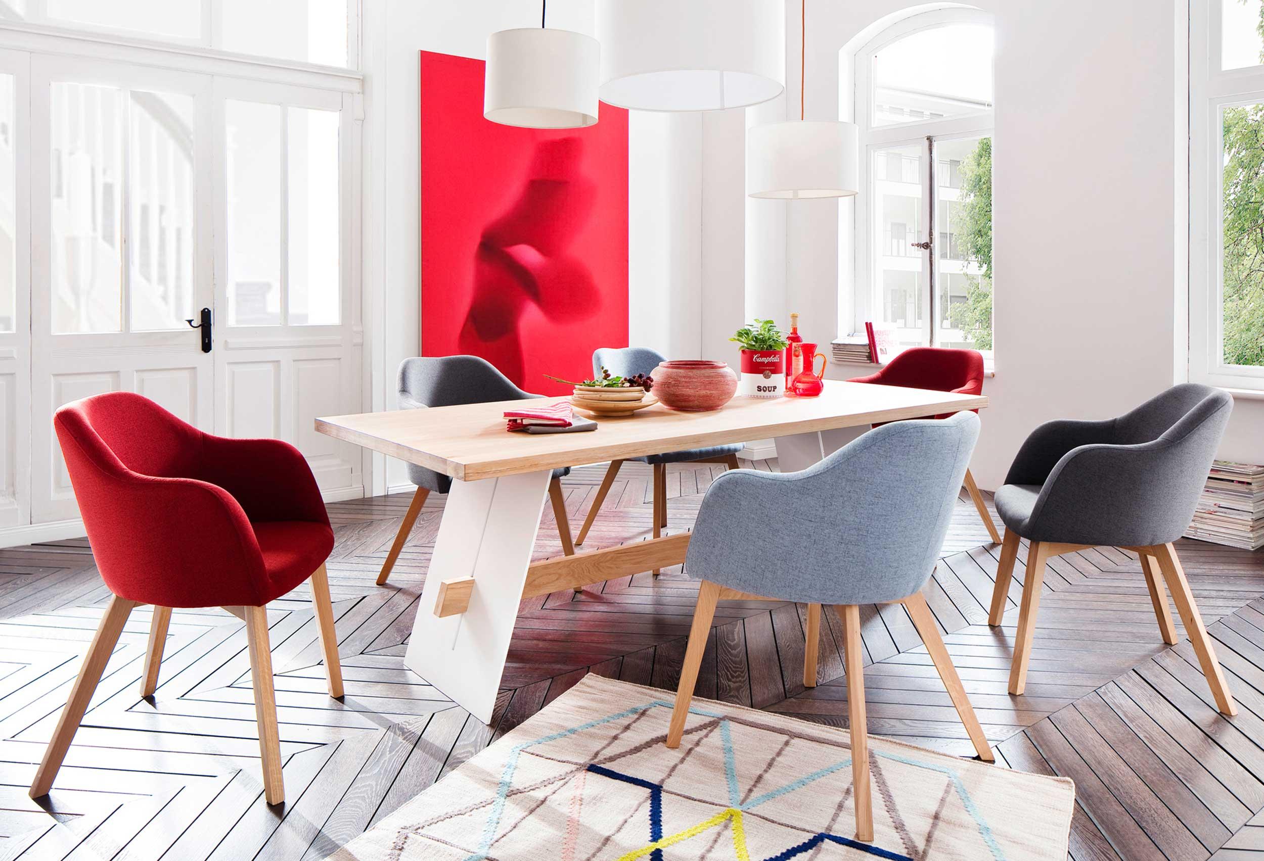 Standard Furniture Theo Freischwinger Sessel rot
