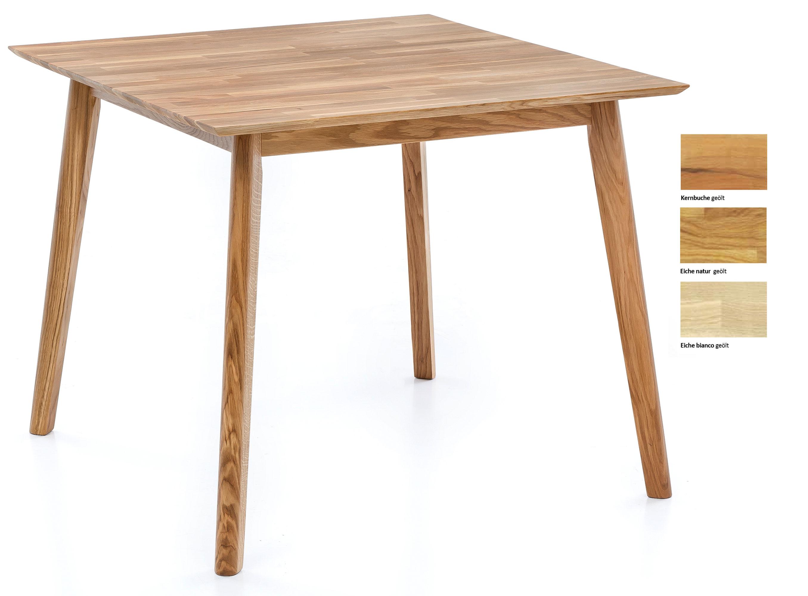 Standard Furniture Thomas Massivholztisch eiche 90x90 cm