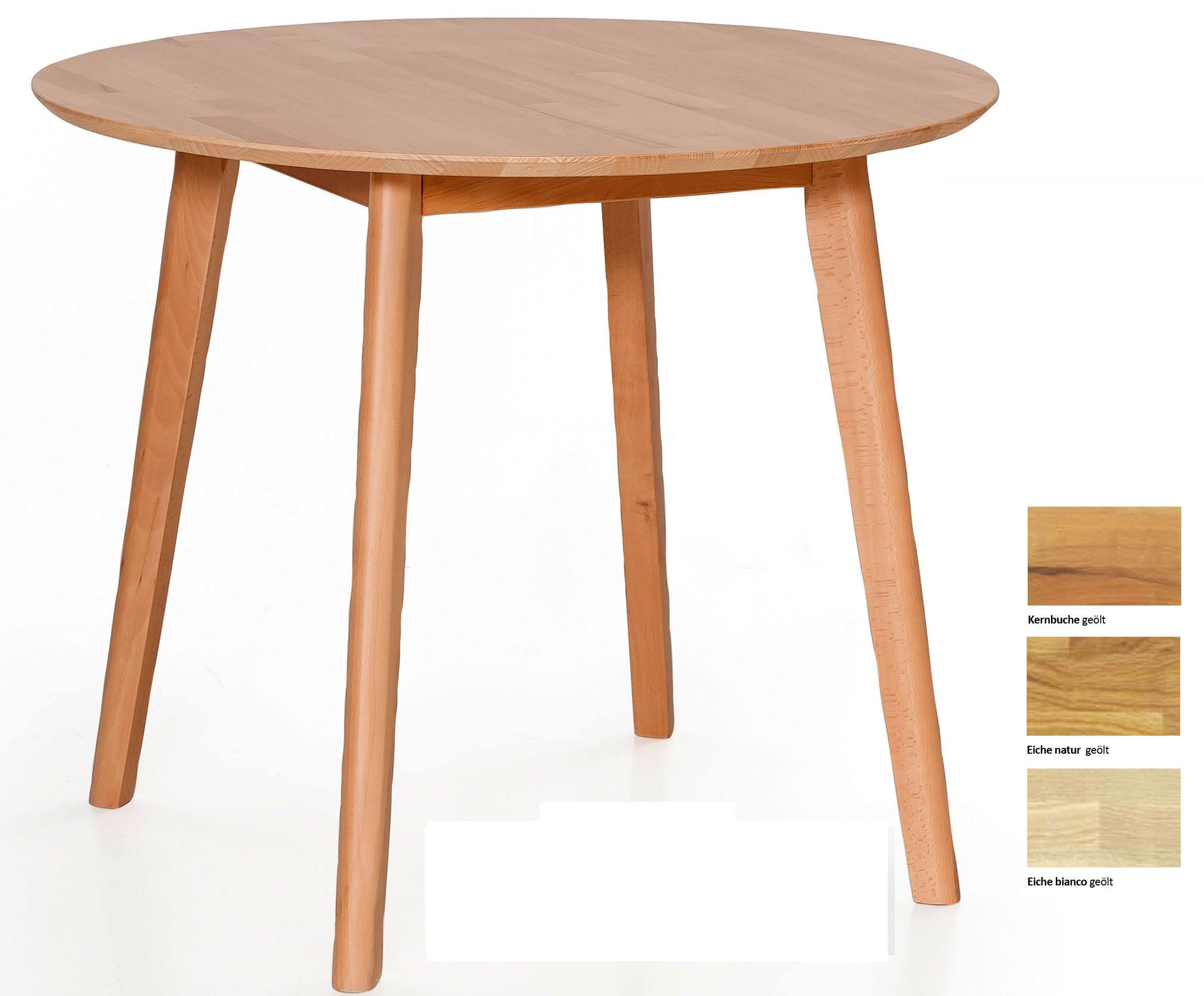 Standard Furniture Thomas Massivholztisch buche 90 cm Durchmesser