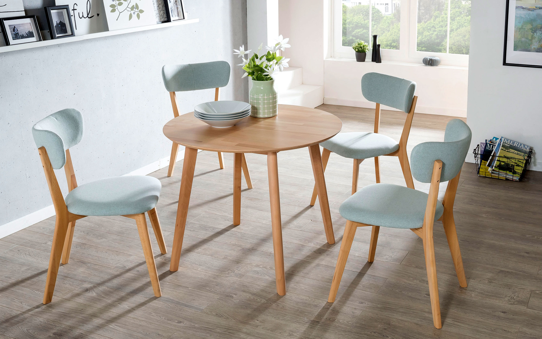 Standard Furniture Tischgruppe kernbuche mit Tisch Thomas und Stühlen Noci