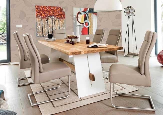 Standard Furniture Aladin Massivholztisch eiche / weiß