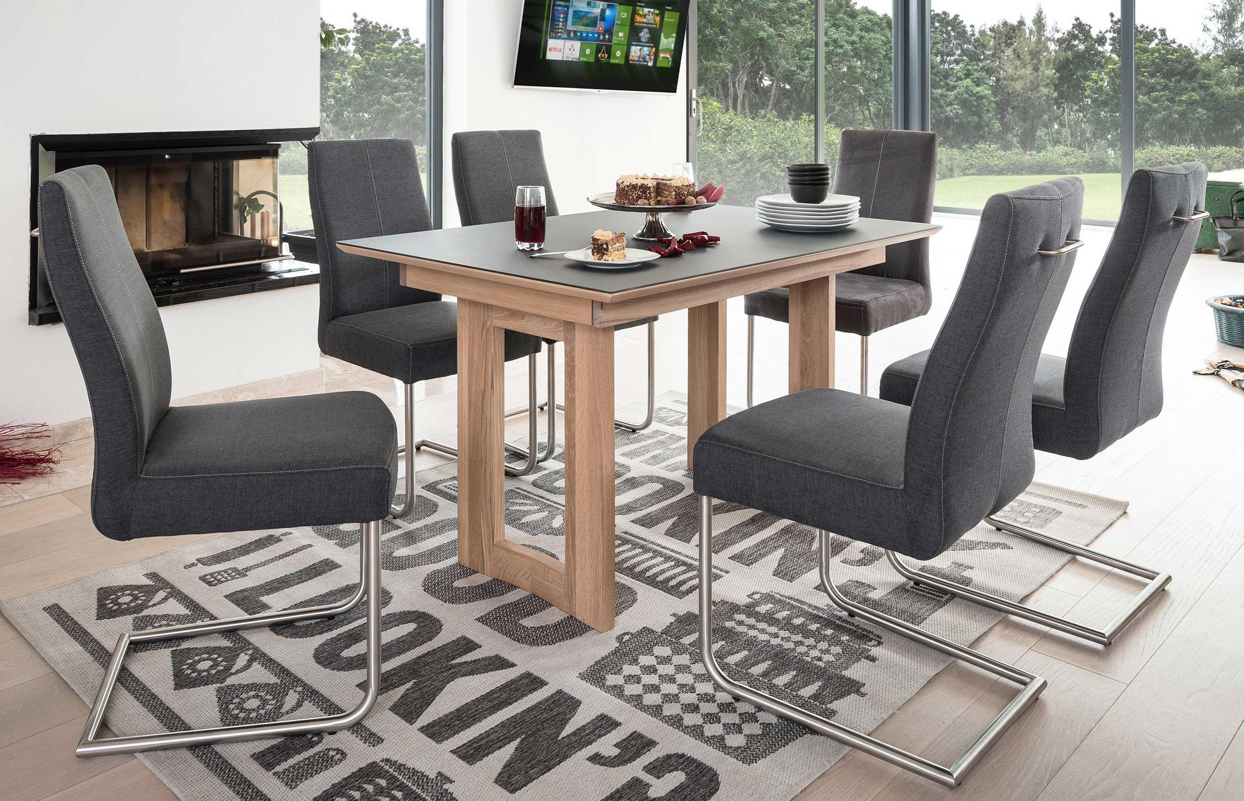 Standard Furniture Komforto Holztisch massiv eiche bianco