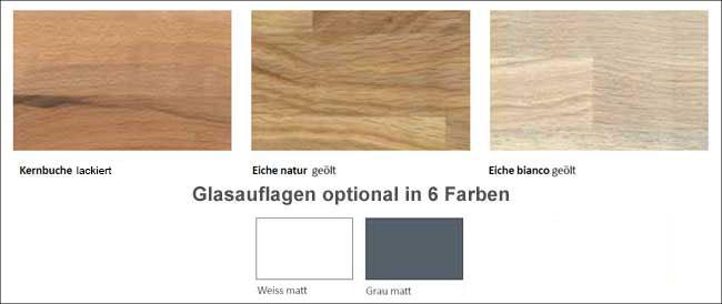 Standard Furniture Komforto Holztisch Farbvarianten