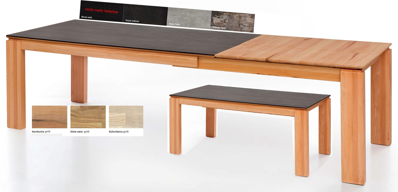 Standard Furniture Manzano Esstisch massiv ausziehbar mit Dektonplatte
