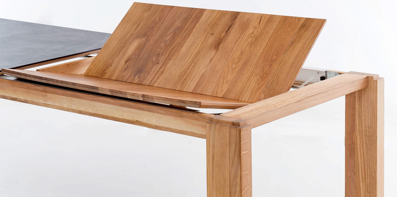 Standard Furniture Manzano Holztisch massiv ausziehbar mit Dektonplatte