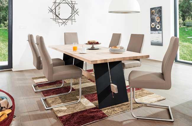 Standard Furniture Aladin Holztisch eiche / weiß