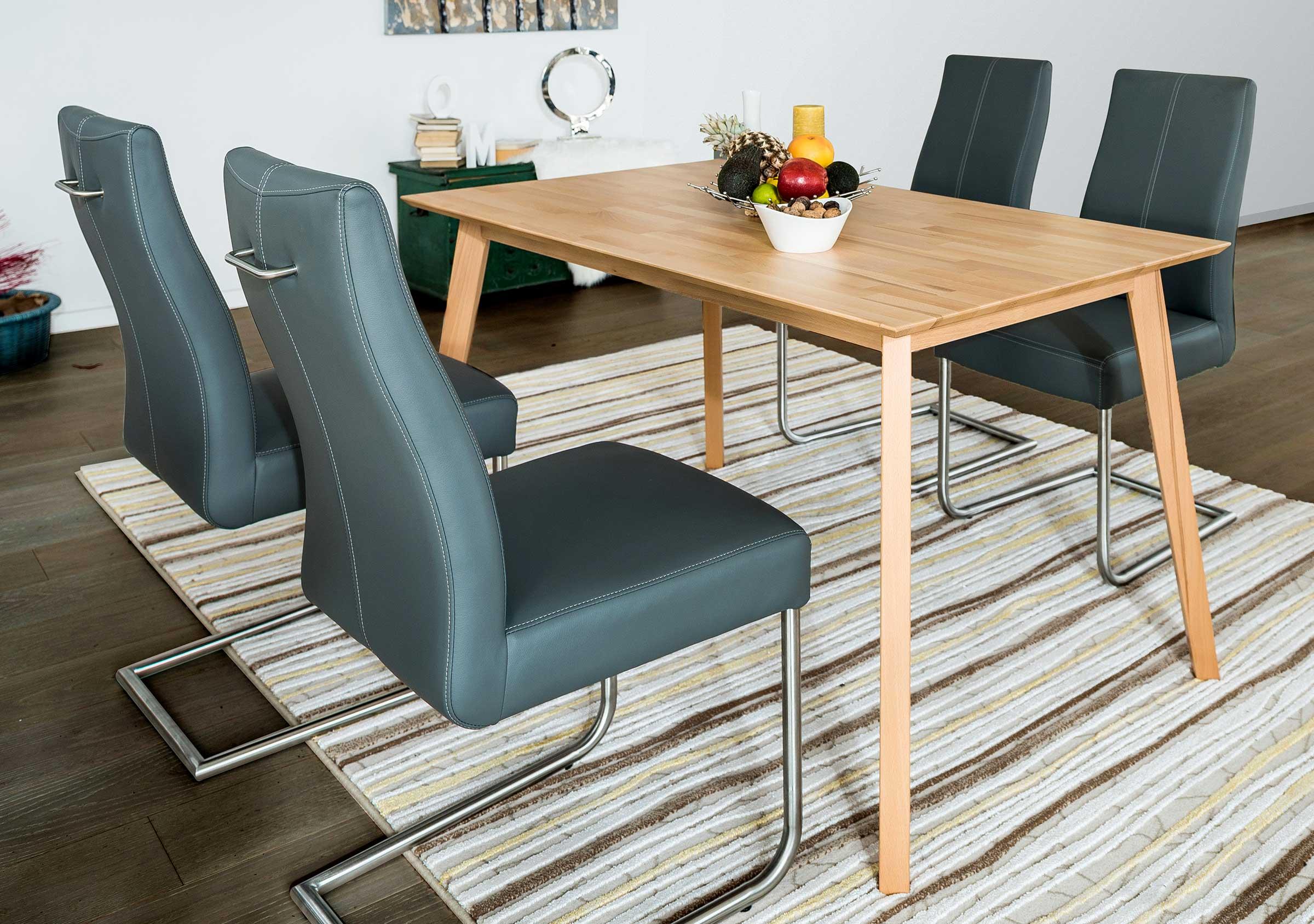 Standard Furniture Vinko Massivholz Esstisch kernbuche / weiß
