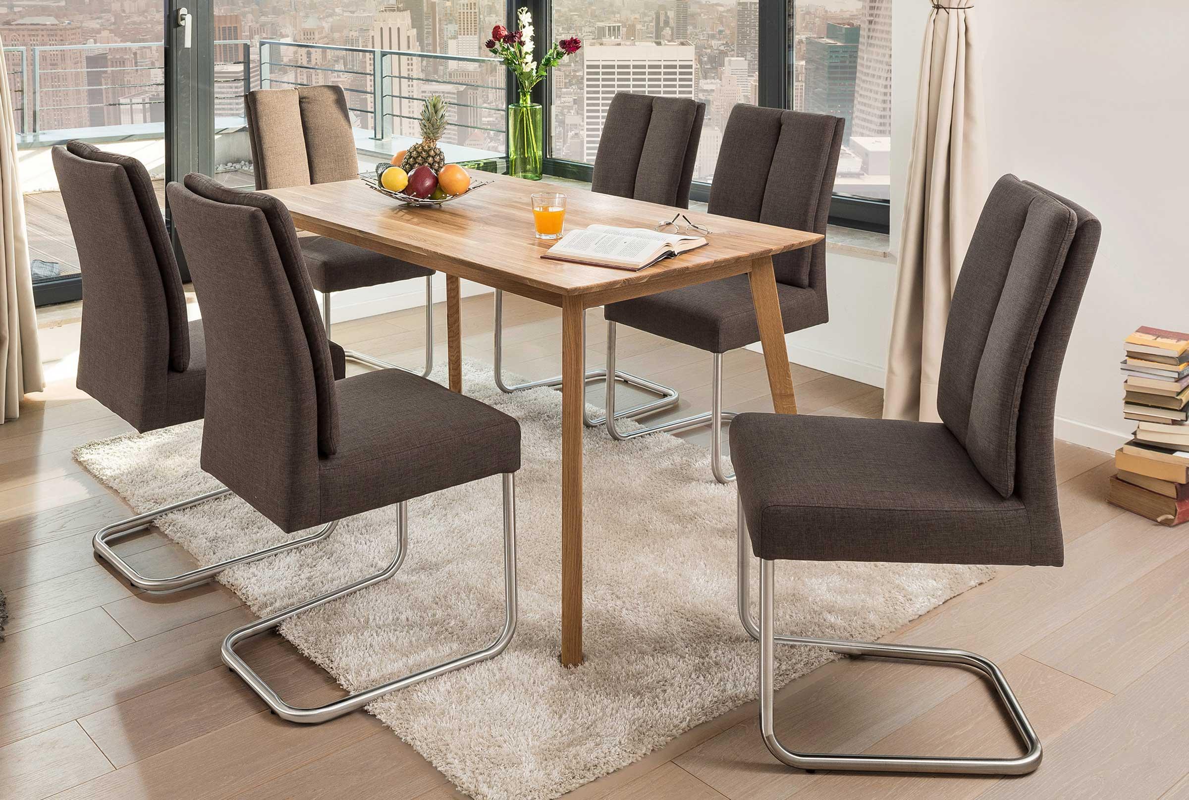 Standard Furniture Vinko Holztisch massiv eiche natur
