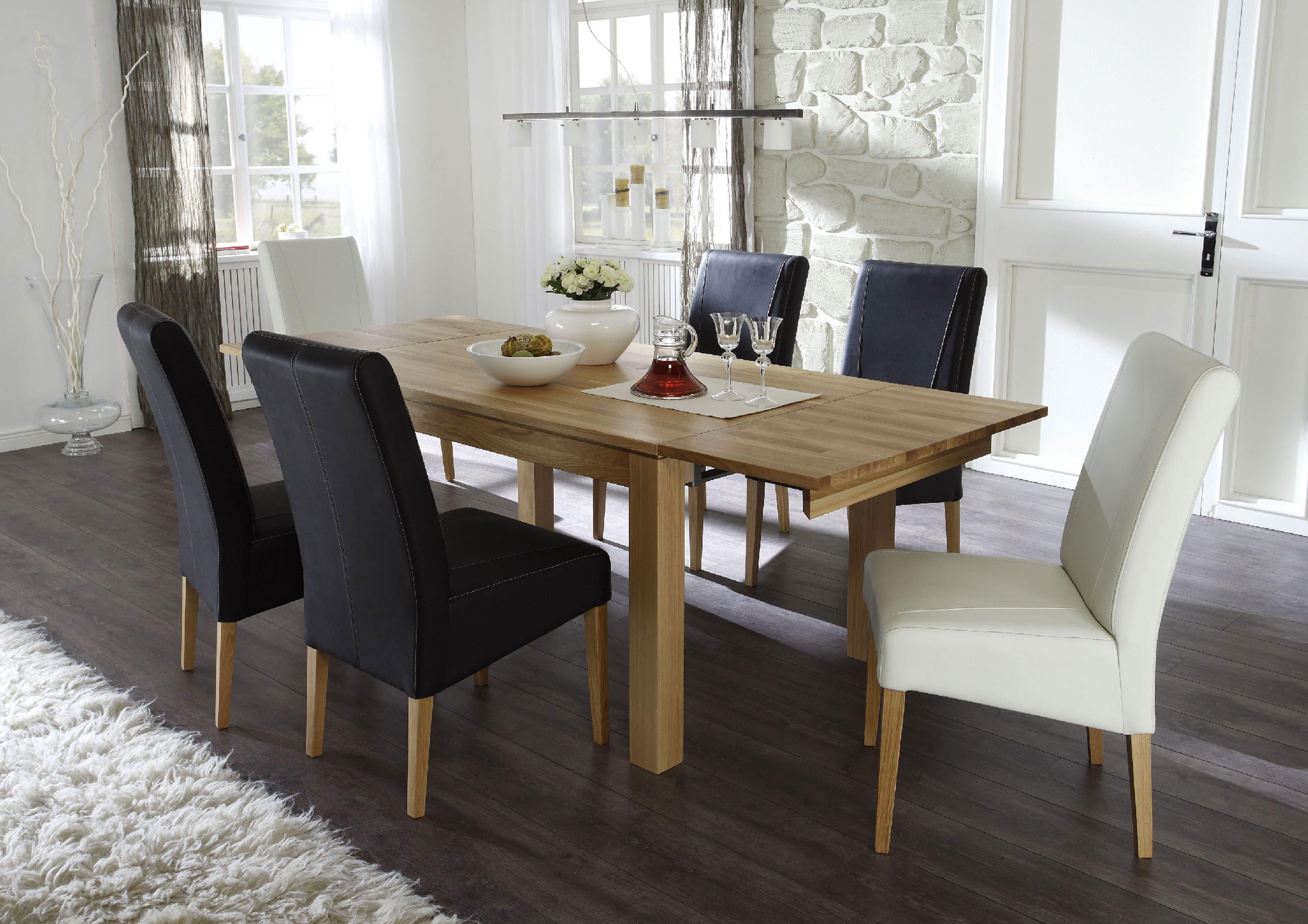 Standard Furniture Tischgruppe mit Tisch Toby eiche natur und Stühlen Rudi
