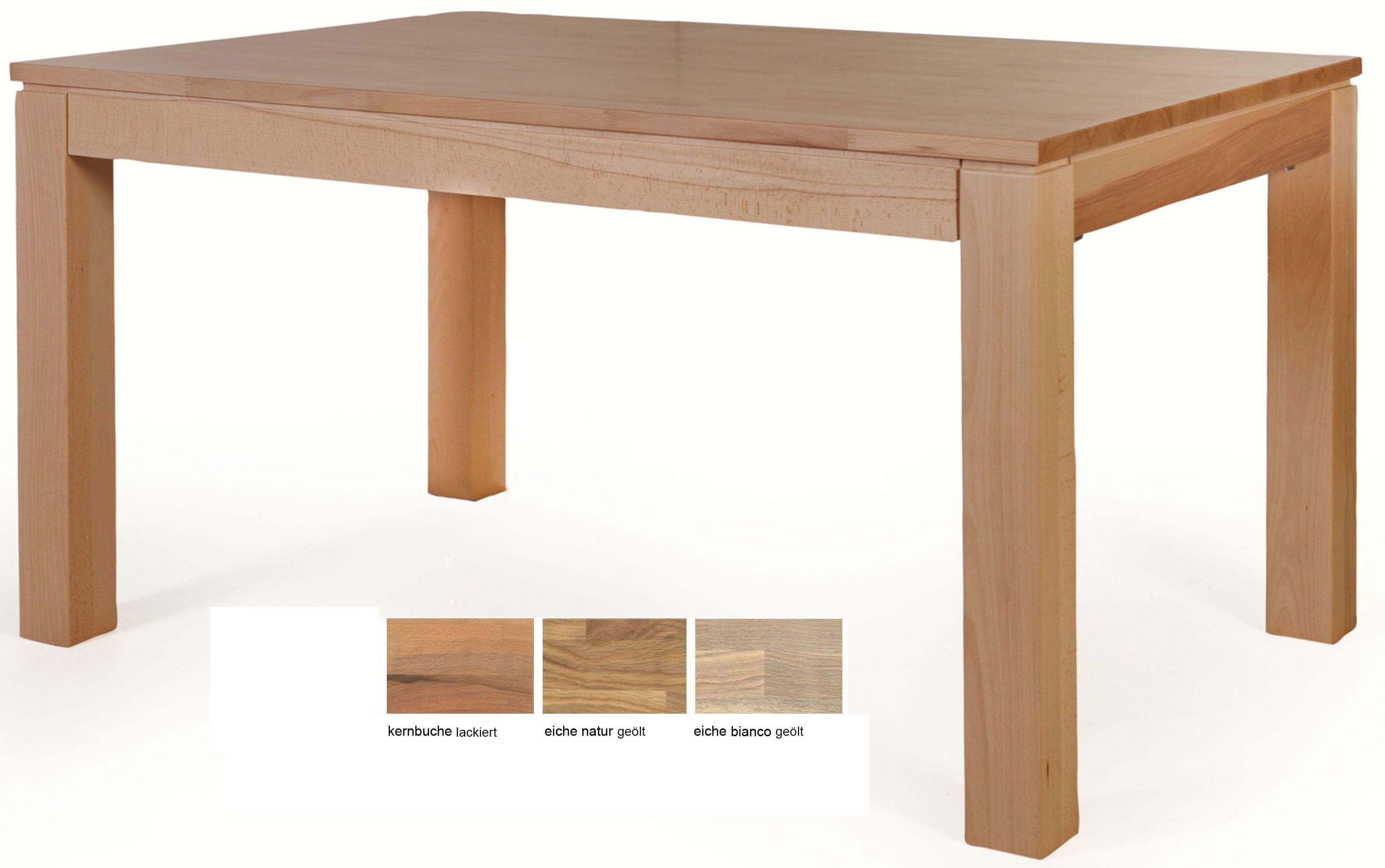 Standard Furniture Toby Massivholztisch kernbuche 160x90 cm ausziehbar