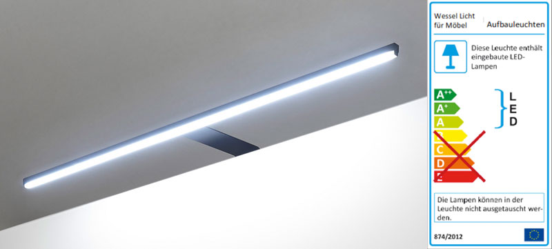 LED Beleuchtung Schrank Darkline schwarz
