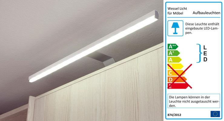 Longline LED Möbel Leuchten chromfarbig