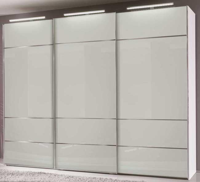 Panoramaschrank Sinfonie Glas weiß / schwarz