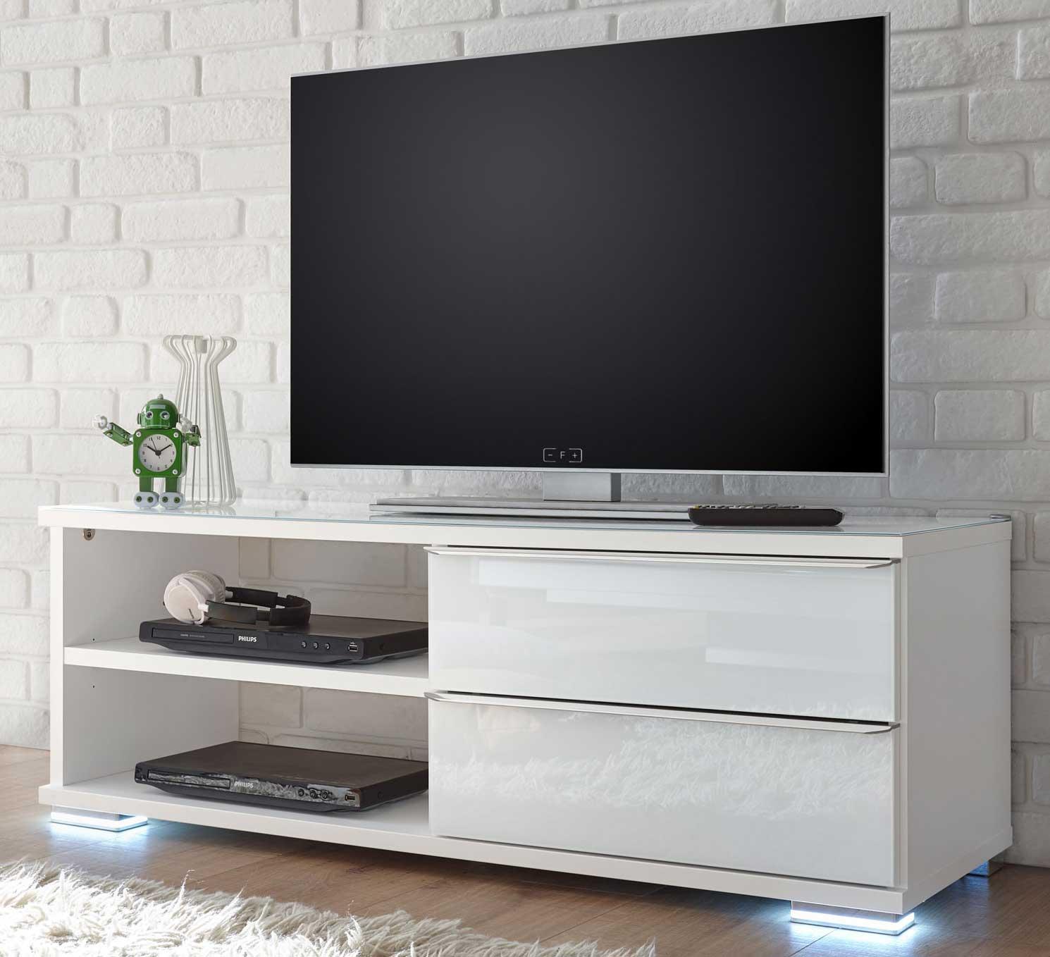 Staud Sinfonie Single Wohnen TV Lowboard weiß