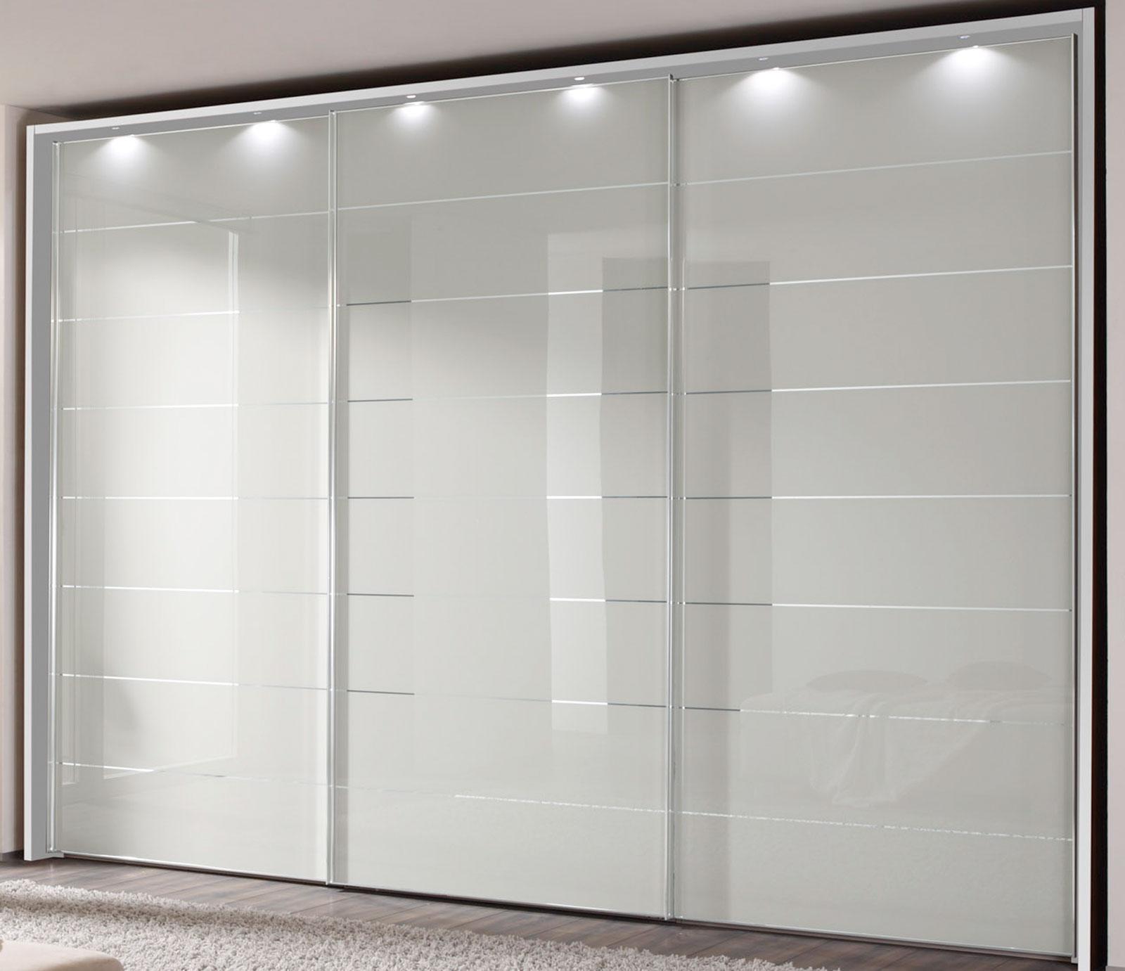Staud Sonate Como Schwebetürenschrank weiß Glas Breite 10 cm