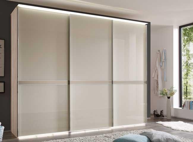 Staud Sonate Pesaro Schwebetürenschrank Glas magnolia