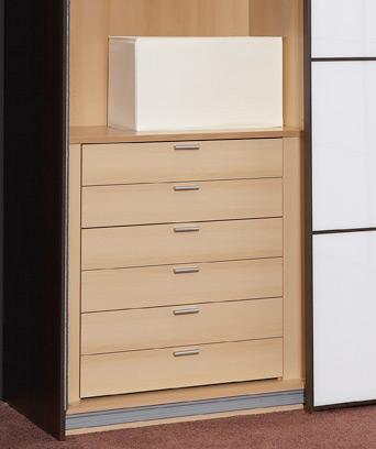 Staud 6er Set Schubladen für Kleiderschrank buche