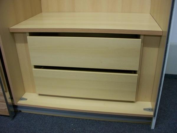 2er Set Schubladen für Kleiderschrank buche