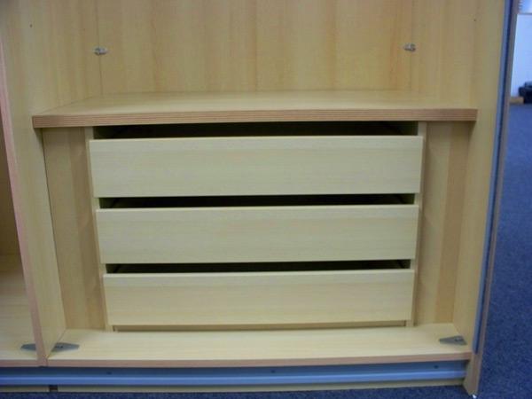 Staud 3er Set Schubladen für Kleiderschrank buche