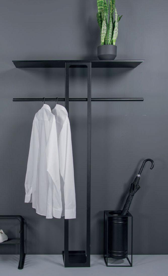 Garderobenset Ando Stahl schwarz
