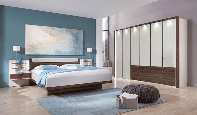 Wiemann Catania Schlafzimmer Einrichtung komplett champagner / nocce