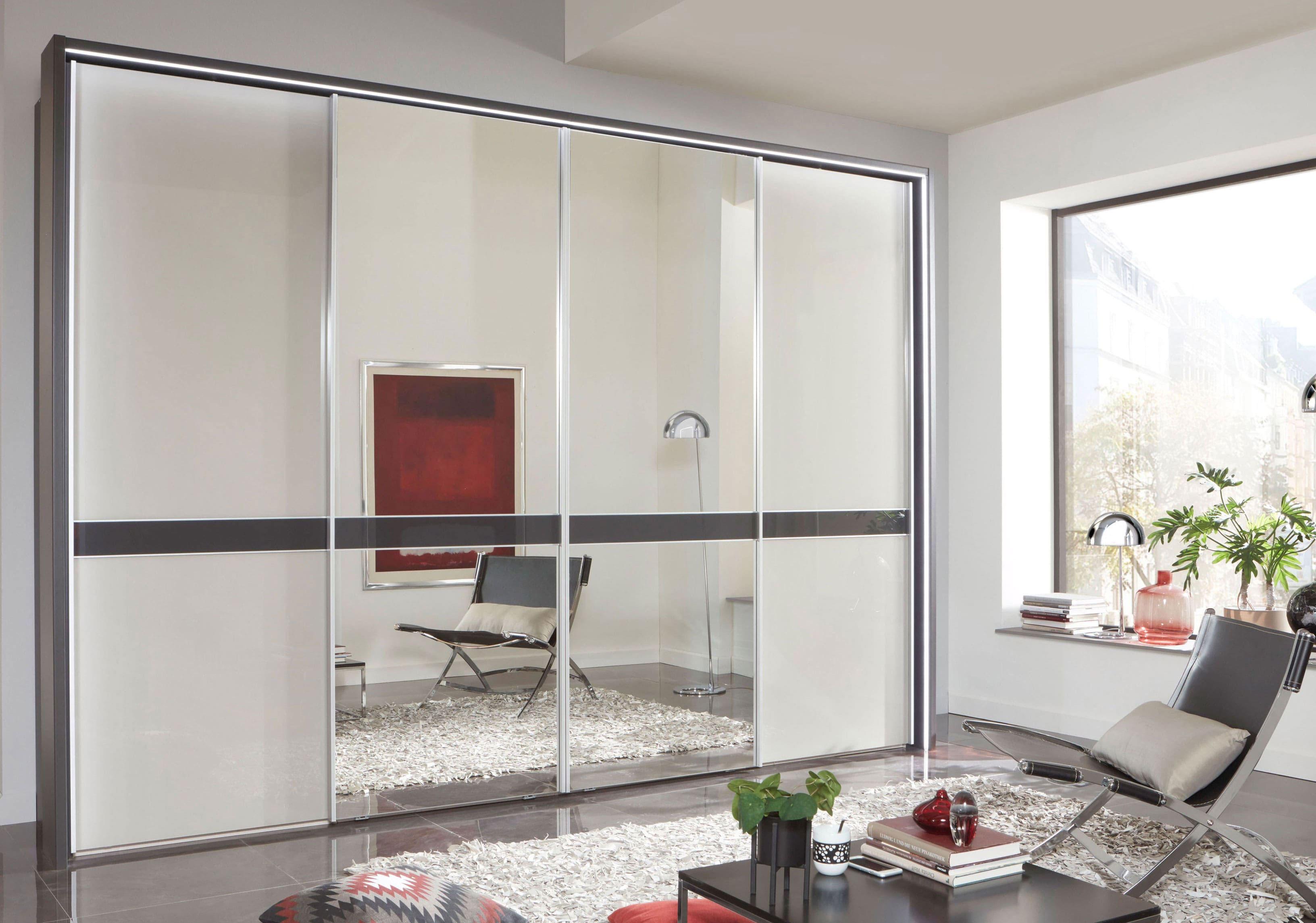 Wiemann Rialto Schwebetürenschrank mit Spiegel und Glas