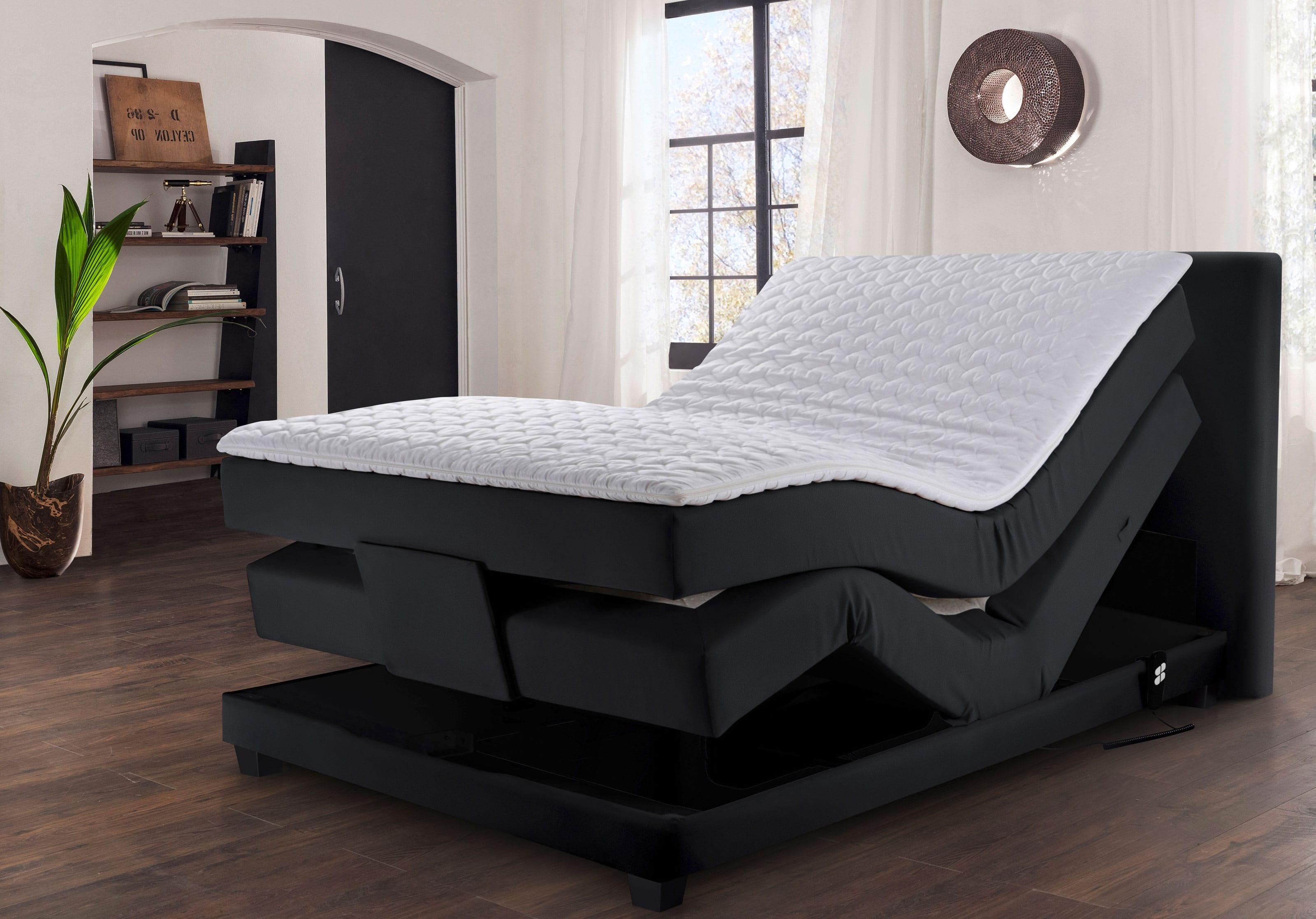 Winkle Madrid Boxspringbett elektrisch verstellbar 140x200 cm schwarz
